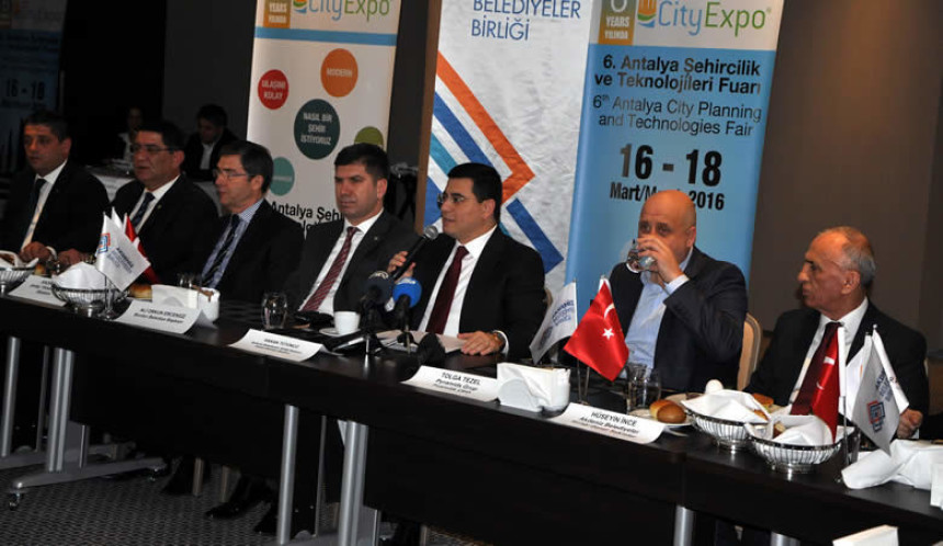 6. Antalya Şehircilik ve Teknolojileri Fuarı 16 Mart'ta ziyaretçilerine kapılarını açıyor