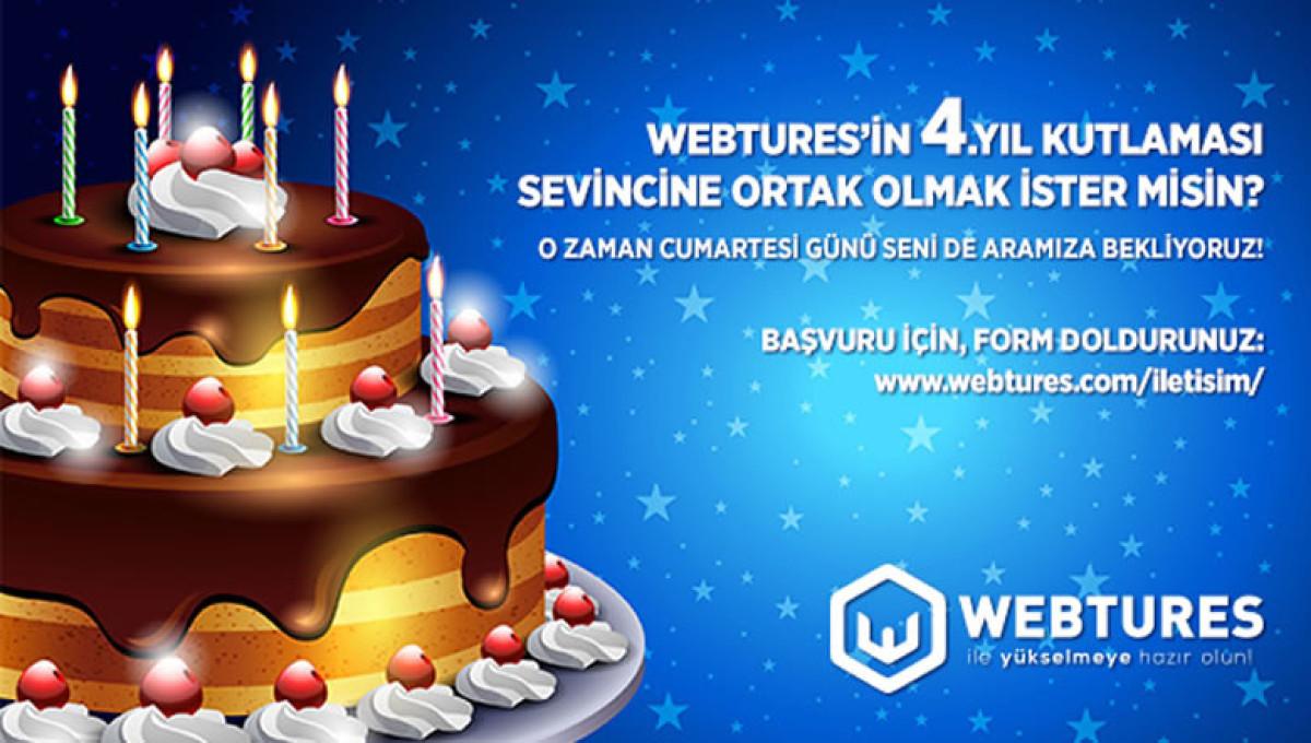 Webtures 4. Yıl Kutlaması