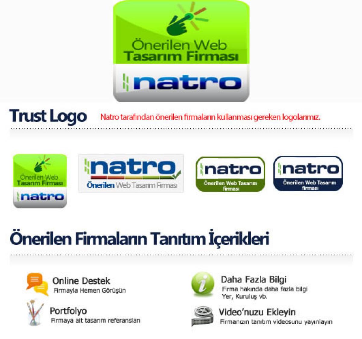 Natro'dan 'Önerilen Web Tasarım Firması' hizmeti