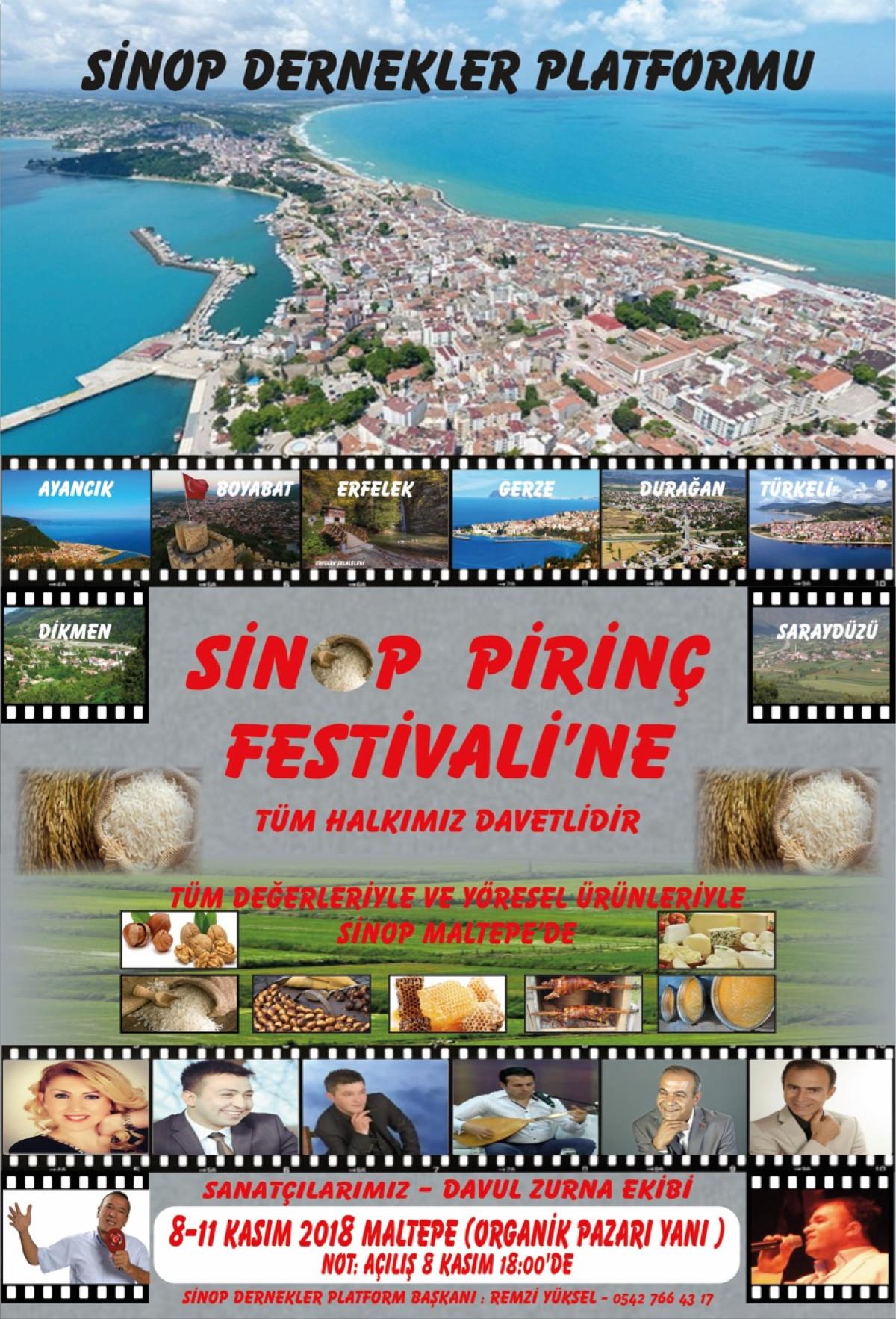 Sinop Pirinç Festivali 8 Kasım'da Maltepe'de başl...